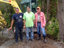 Wethersfield Construction crew sets new culvert pipes